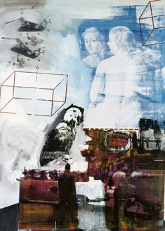 Robert Rauschenberg - Tracer, Oil and silkscreen ink on canvas - owned by the Nelson-Atkins Museum of Art, Kansas City, MO Robert Rauschenberg, Art Du Collage, Collage Artists, Collages, Neo Dada, Jasper Johns, Action Painting, Abstract Expressionism, Abstract Art