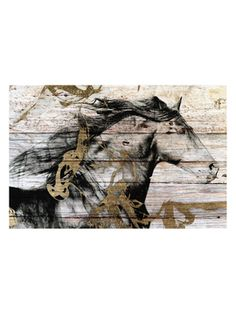 Gold and Black Beauty (Pinewood) from Go with the Grain: Art on Wood on Gilt
