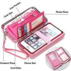 Universal Women Umbrella 5.5 Inch Phone Wallet Case Purse For Iphone,Xiaomi,Redmi,Samsung On Sale - NewChic Mobile.