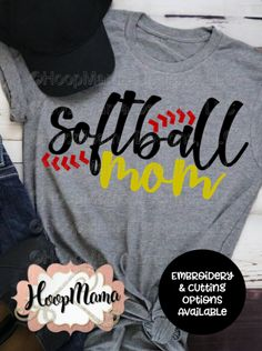Softball Mom – Embroidery and Cutting Options – HoopMamaYou can find Softball mom and more on our website.Softball Mom – Embroidery and Cutting Options – HoopMama Softball Mom Shirts, Softball Crafts, Baseball Mom, Softball Cheers, Softball Bows, Softball Stuff, Girls Softball, Baseball Shirts, Sports Shirts