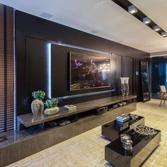 Chic and Modern TV wall mount ideas. - Since many people including your family enjoy watching TV, you need to consider the best place to install it. Here are 15 best TV wall mount ideas for any place including your living room. Living Room Home Theater, Living Room Theaters, Tv Wall Ideas Living Room, Living Room Decor Tv, Living Rooms, Home Theaters, Tv Wall Design, House Design, Tv Cabinet Design