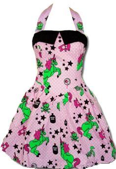 Hell Bunny 'I Heart Zombies' Dress Funky Dresses, Emo Dresses, Pink Mini Dresses, Pretty Dresses, Pink Dress, Vintage Dresses, Vintage Outfits, Bunny Party, Rockabilly Outfits