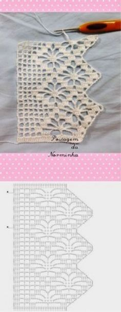 Spiderweb Lace Edging with chart Knitting ProjectsKnitting For KidsCrochet PatronesCrochet Scarf Crochet Boarders, Crochet Edging Patterns, Crochet Lace Edging, Crochet Chart, Filet Crochet, Crochet Doilies, Easy Crochet, Crochet Edgings, Loom Patterns
