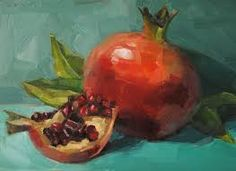 Image result for pomegranate painting
