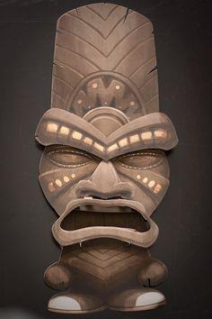 Tiki Mask by Justin Cline, via Behance