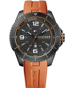 Tommy Hilfiger Orange Rubber Strap Watch – Men's Tommy Hilfiger Watches, Pierre Cardin, Casio Watch, Watches For Men, Jewelry Watches, Accessories, Php, Animal Kingdom, Sport