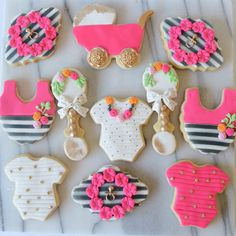 Kate Spade inspired sugar cookies