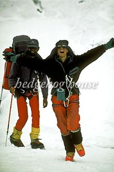 Rob Hall and wife, Jan Arnold, after climbing ..
