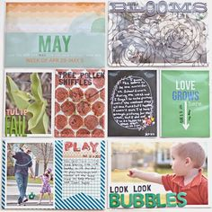 Scrap Happy Hippie: Project Life 2013 - Week 18 - left page