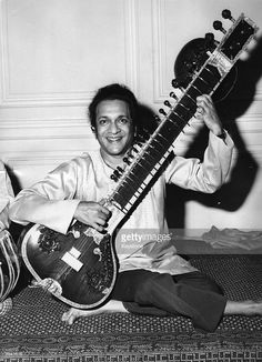 Ravi Shankar, Indian sitar player, at a press conference at the Hyde Park Hotel, London. He is here for a charity concert in aid of The Bangladesh Fund at the Albert Hall.