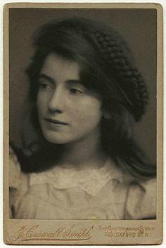 Portrait in sepia. Lady Edna Clarke Hall - circa 1895