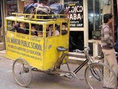 yellow school bus, india