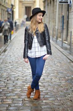 http://www.jumelle-ln.fr/ #Chapeau #Chemise #Jean #Boots @Pimkie