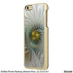 Golden Flower Fantasy, abstract Fractal Art Incipio Feather® Shine iPhone 6 Plus…