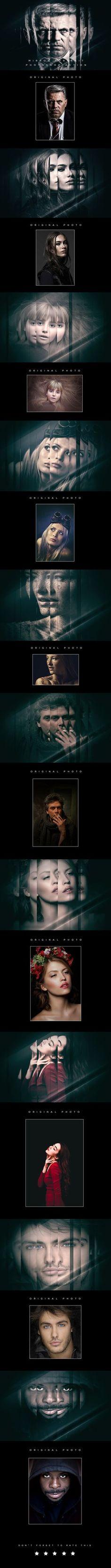 Mirror Portrait Photoshop Action - Photo Effects Actions