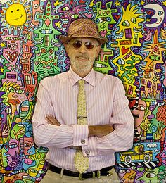 James Rizzi - great inspiration for an elementary art lesson on artrageous afternoon blog