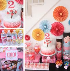 Japanese kokeshi doll party-- Custom Designed Sweets Bars, Candy Buffets, Cake Pop Favors | GALLERY Birthday Cup, First Birthday Parties, First Birthdays, Summer Birthday, Birthday Ideas, Japanese Theme Parties, Japanese Party, Cake Pop Favors, Japanese Birthday