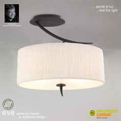 Mantra Eve 2 Light Semi Flush Ceiling Fitting in Anthracite