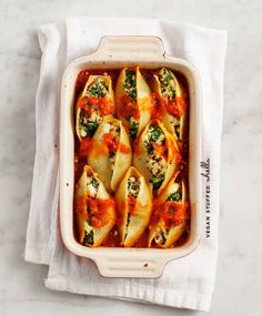 Vegan Stuffed Shells | 19 Creamy And Delicious Vegan Pasta Recipes. Just need to find GF shells!