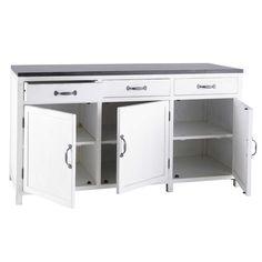 Kücheninsel aus Recyclingholz, B 170 cm, weiß | New House ... | {Kücheninsel landhausstil modern 17}