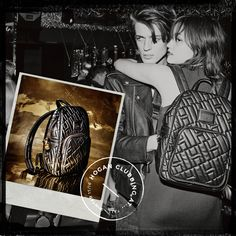 Rock-chic style. #HOGAN Women's backpack in black leather. #HOGANClub #HOGANClubbingAt