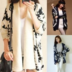 Buy new fashion women's geometric pattern open front loose sweater wrap cape cardigan from newdress,enjoy discount shopping and fast delivery now. Loose Sweater, Wrap Sweater, Sweater Coats, Knit Cardigan, Oversized Cardigan, Pretty Outfits, Cool Outfits, Casual Outfits, Fashion Outfits