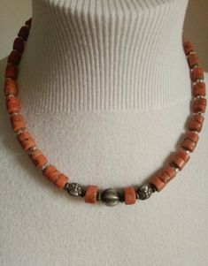 Coral, Beaded Necklace, Accessories, Jewelry, Fashion, Bead Necklaces, Silver, Beaded Collar, Moda