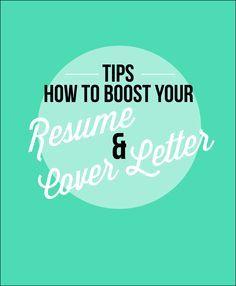 Tips for your resume & cover letter #career #resume #profiliacv
