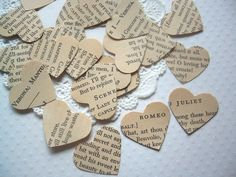 confetti, romance or love story, love poem