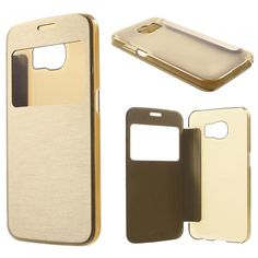 Guldfodral till Samsung Galaxy S6. Hitta fler fodral via: http://www.phonelife.se/mobilfodral