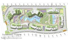 Kuzu Group: Spradon Valley construction plan - Housing Projects - marita home Landscape Design Plans, Landscape Architecture Design, Urban Landscape, Project Site, Social Housing, Site Plans, Master Plan, Urban Planning, Home Projects