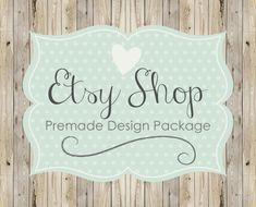 Etsy Shop Banner Avatar Set / Etsy Banner / by simplycreativeshop / Vintage Wood Chic $10.00