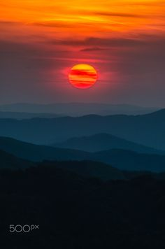 Sunset in the mountains - null