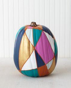 Get inspired by handmade pumpkin designs by Martha Stewart crafters and staffers using Martha Stewart Craft paints!A jewel-toned, geometric masterpiece.