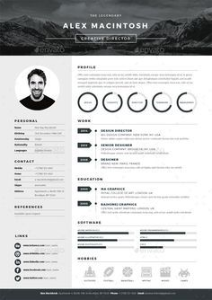Professional And Modern Resume Template For Word  Pages The