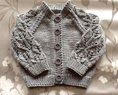 Lovely Leaf Lace cardigan. Hand knitted. by emilyandevelyn on Etsy