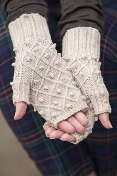Pretty! Pearl Lake Knitted Mitts from Interweave Knits Winter 2015
