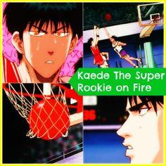 Kaede rukawa the super rookie on fire against champions Kainan via watchslamdunkanime.blogspot.com ep-54 Inoue Takehiko, Anime Rules, Slam Dunk, Slums, Basketball Players, Sd, Fire, English, Watch