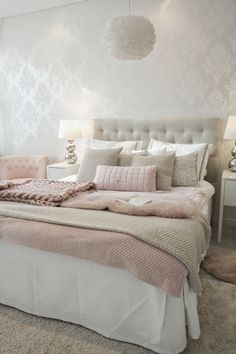 Bunk Models: 60 Creative Ideas and How to Choose the Ideal - Home Fashion Trend Cute Bedroom Ideas, Girl Bedroom Designs, Room Ideas Bedroom, Home Decor Bedroom, Sophisticated Bedroom, Stylish Bedroom, White Room Decor, Aesthetic Bedroom, Dream Rooms