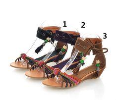 Bohemian Bohemien Roman Sandalen Met Tassel Maat 34 35-39 - Kleine maat damesschoenen laarzen pumps hakken 30 31 32 33 34 35 36 37 38 39 kleine maat schoenen