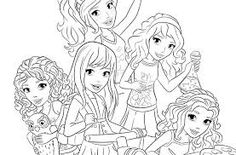 Good LEGO Friends Coloring Page