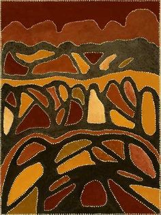 Mola - Patrick Mung Mung / Yunurrl 2004 120 x Natural ochres & pigments on canvas by mollie Aboriginal Painting, Aboriginal Artists, Aboriginal Culture, Sand Painting, Organic Art, Australian Art, Indigenous Art, Art For Art Sake, Native Art