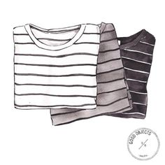 Good objects - Striped tees #goodobjects #illustration #watercolor