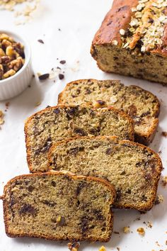This Gluten Free Banana Bread is a tried and true banana bread! It's soft, moist, healthy and refined sugar free! Recipe on | http://jessicainthekitchen.com