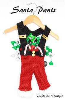 Crafts By Starlight: Santa Pants Crochet Bag