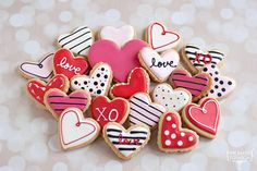 Día de San Valentín azúcar galletas Minis por TheBakedEquation