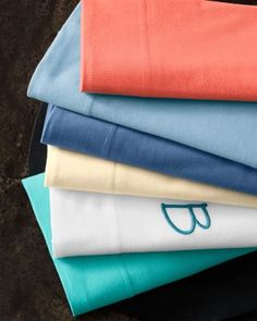 Climb under Garnet Hill quality pure cotton bed sheets. Find cool percale bed sheets, soft jersey cotton sheets, cozy German flannel or silky sateen bed sheets. Cotton Sheets, Cotton Bedding, Linen Bedding, Flat Sheets, Bed Sheets, College Dorm List, Monogram Pillows, Knitting, Woven Cotton