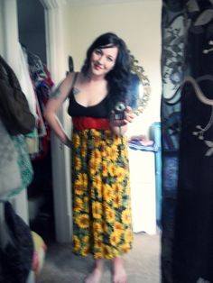 Joined an old tank top and the bottom of a 90's dress...had the belt on hand.
