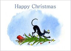 LARGE GREYHOUND WHIPPET LURCHER DOGS XMAS CARD 6499 Dianne Heap CHRISTMAS HOUNDS