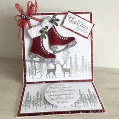 Chloes Creative Cards Stamps by Chloe - Christmas Sparkle - - Christmas Stamps by Chloe - Chloes Creative Cards Chloes Creative Cards, Creative Christmas Cards, Christmas Cards 2017, Christmas Paper Crafts, Homemade Christmas Cards, Christmas Greeting Cards, Homemade Cards, Holiday Cards, Crafters Companion Christmas Cards